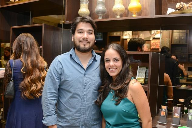 8b Jason Rhoton and Robin Haddad at the Cacao & Cardamom party November 2014