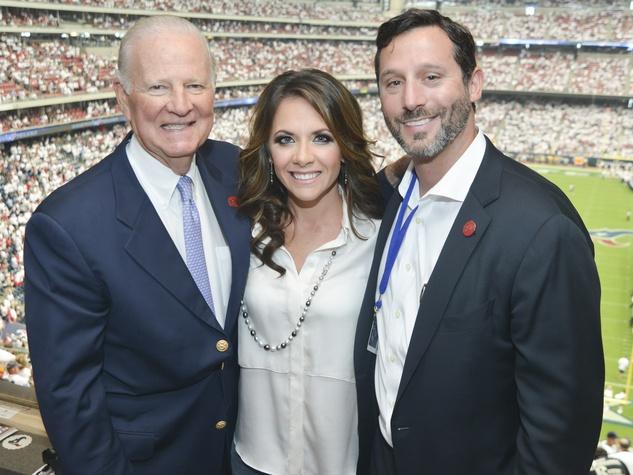 8 Texans owner's suite home opening game September 2013 James Baker, Joanna Hartland Marks, Brad Marks