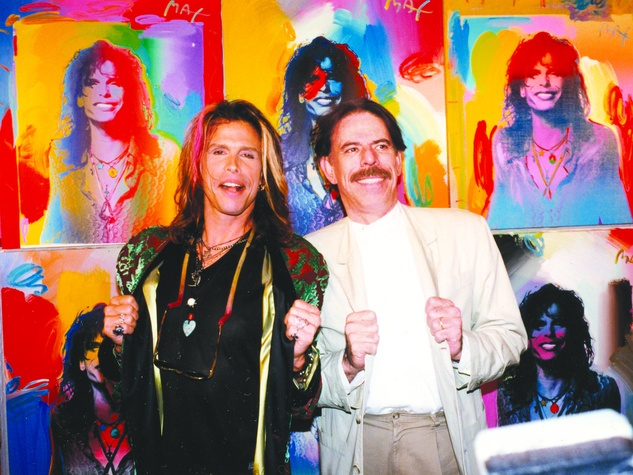 Steven Tyler and Peter Max