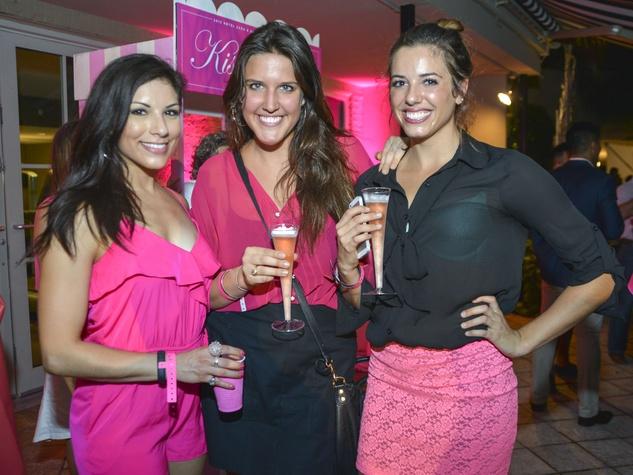 Vanessa Munoz, Brooke Foster, Kara Cook at Party in Pink at Hotel ZaZa July 2013