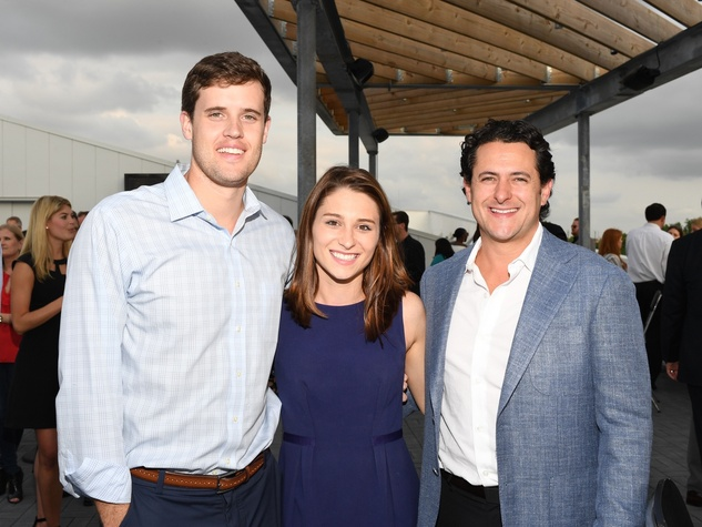Walker Colt, Morgan Relyea Colt, David Denemburg at Barbara Bush Foundation gala kickoff