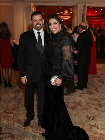 Dr. Pershant and Nidhika Mehta at the Huffington Center on Aging Gala November 2013