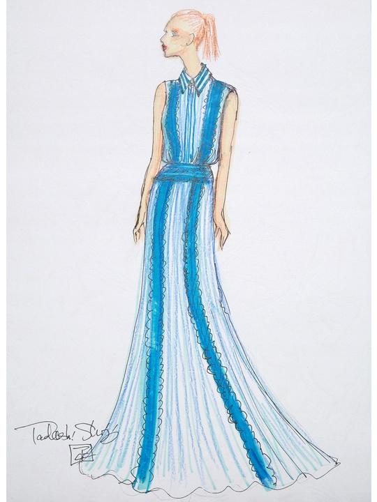 Fashion Week spring 2015 sketch Sept. 2014 Tadashi Shoji