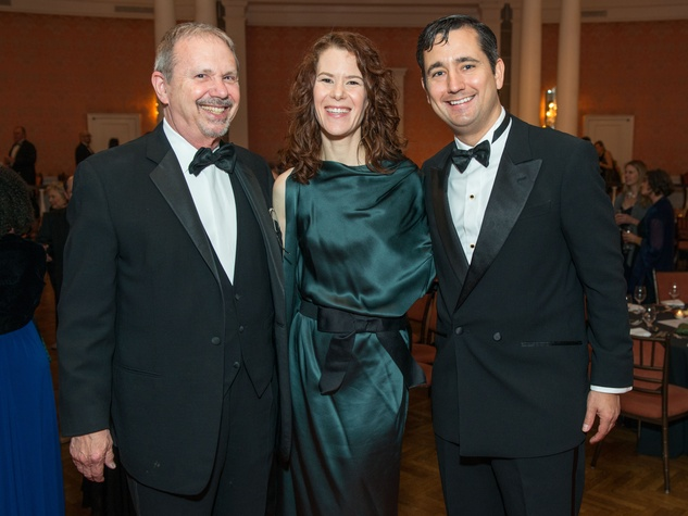 10 Marc Grossberg, left, with Brooke and Dan Feather at the Inprint Ball February 2015