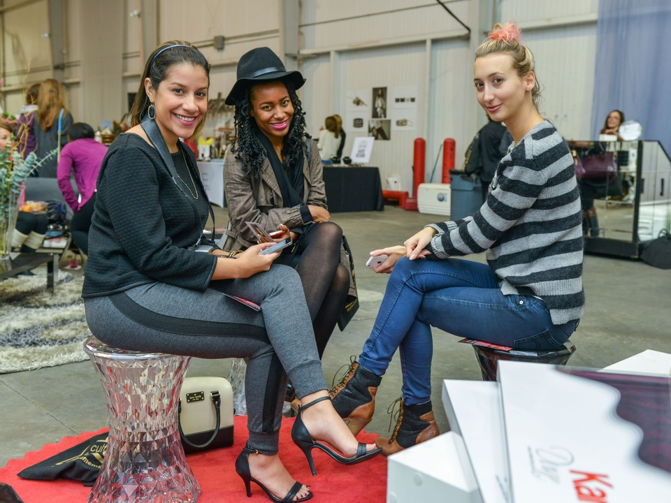 11 Madeline Pena, from left, Marquita Johnson and Chiara Brody at the CultureMap Pop-Up Shop December 2014