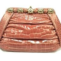 Judith Leiber alligator handbag