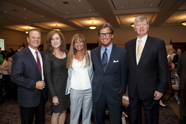 249 Rob and Liz Andrews, from left, Beverly and Tom Fritsch and David Deaton at the Hope and Healing Center luncheon May 2014