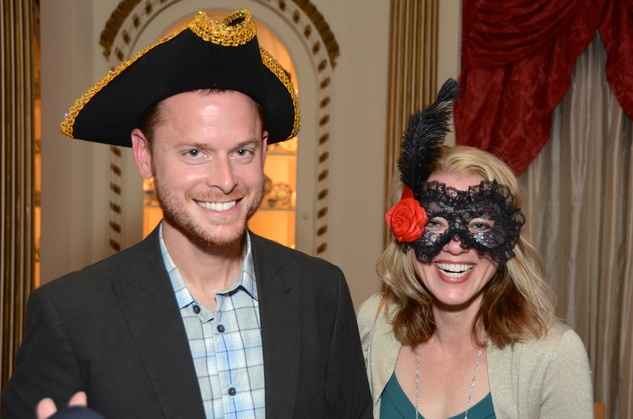 Brian and Chrissy Blank at the Rienzi Punch Party October 2014