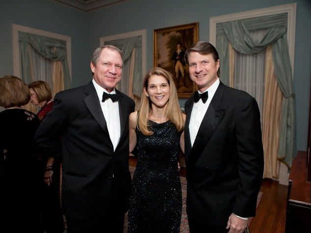 Cliffe Reckling, from left, with Elise and James Reckling at the Rienzi Society dinner January 2014