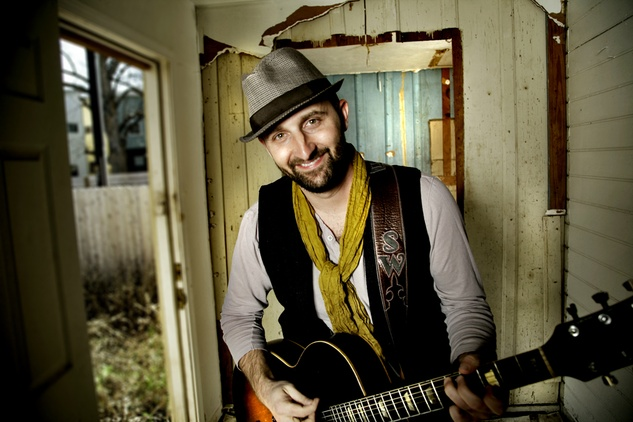 Nashville -Austin musician Seth Walker with guitar