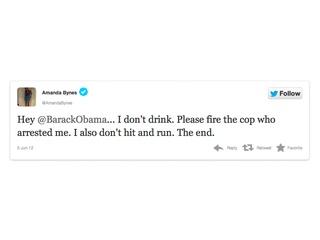 Amanda Bynes, tweet, Obama