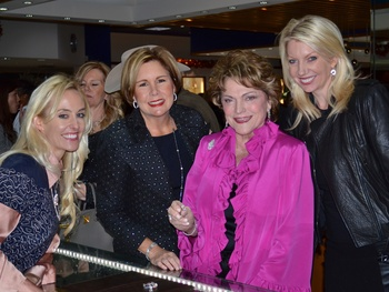 35 J.J. Williams, from left, Clare Jackson, Beth Wolf and Susan Vick at the Zadok Holiday Party December 2013