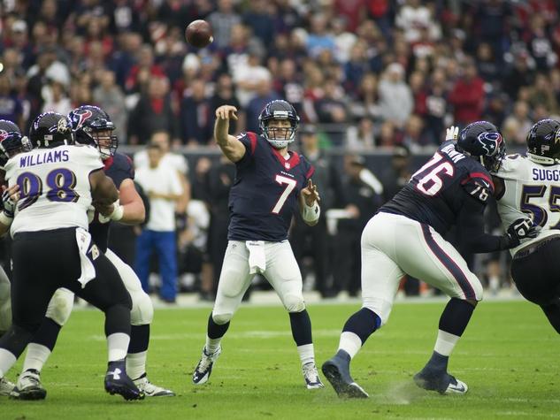 Case Keenum Ravens throw Texans
