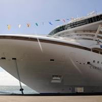 Caribbean Princess cruise ship ocean line at dock