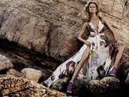 Roberto Cavalli spring summer collection with model Karolina Kurkova