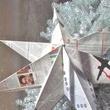 Newsprint star, holiday decorations