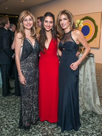 35 Rania Daniel, from left, Daria Daneil and Sima Ladjevardian at the MFAH Grand Gala October 2014