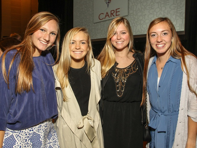 Katherine Thompson, Peyton Ward, Sydney Smith and Gabby Crank, CARE Breakfast