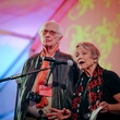 Fred Baldwin and Wendy Watriss at the FotoFest opening party March 2014