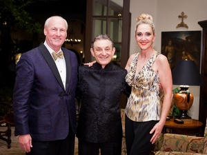 Houston Grand Opera after-party, January 2013, John Scotty Arnoldy, Maestro Trevor Pinnock, Jana Arnoldy