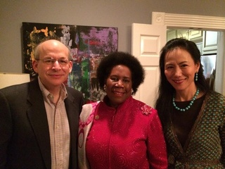 News_Shelby_Cindy Clifford party_David Leebron_Sheila Jackson Lee_Y. Ping Sun_December 2013