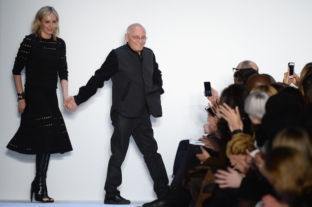 Herve Leger fall 2014 collection, Lubov and Max Azria
