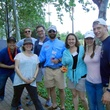 15 Alan Bunker, from left, Mary Beth Woiccak, Allyn West, Sean Cowan, Kansas Sartin, Emily Winters, Leanna Gatlin, and Chris Hill at Anything That Floats 2014