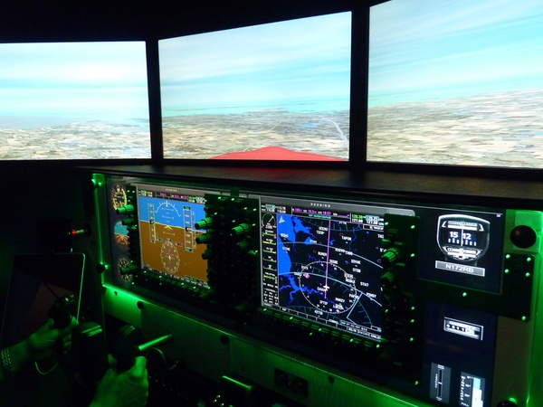 flight simulation, Ellington Field