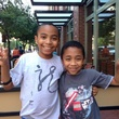 Carson Huey-You the 11 year old student at TCU with younger brother Cannan
