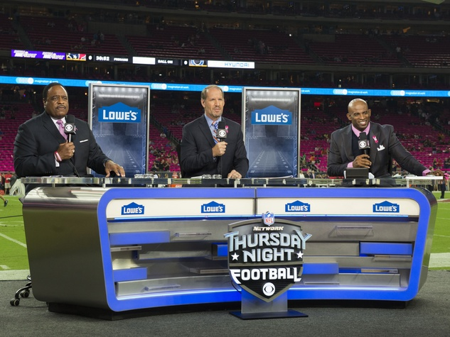 18 Texans vs. Colts October 2014 first half sports announcers