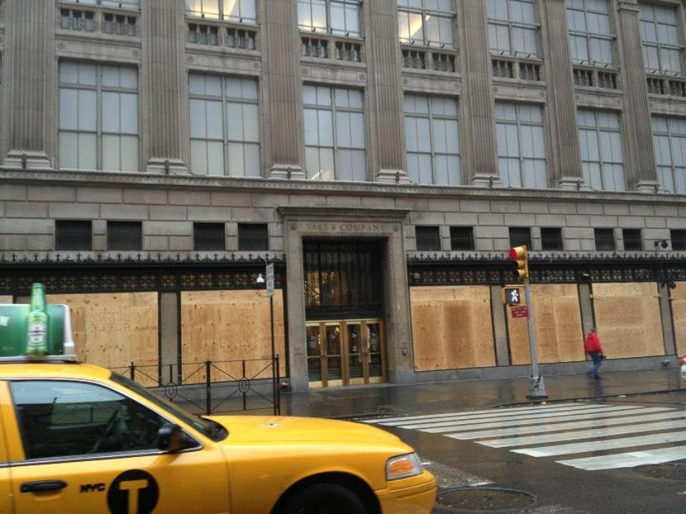 Hurricane Sandy, Manhattan, Saks Fifth Avenue, October 2012