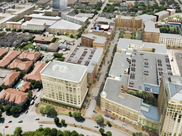 Regent Square, development, Houston, aerial, rendering