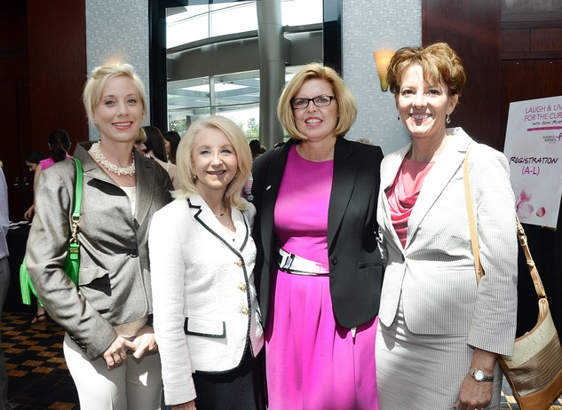 Staci Adams, Betsy Clardy, Margo Wolanin and Dixie Mullins at Komen luncheon featuring Joan Rivers