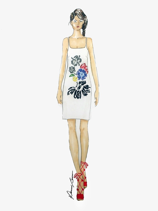 Dennis Basso inspiration sketch New York Fashion Week spring 2016