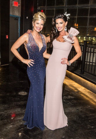 Tammie Johnson, left, and Nicole Lassiter at the Stages Repertory Theatre Gala April 2015 FULTON