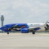 Southwest Airlines SeaWorld penguin plane