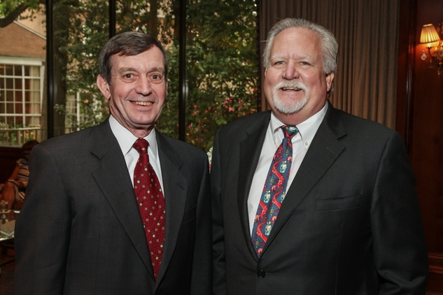 Rich Walton, left, and Art Smith at the Houston Hospice butterfly luncheon April 2015