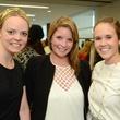 McKenzie Beglau, from left, Elizabeth Graham and Hannah Lonergan at WOW's Membership Drive June 2014