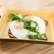 Sunny side up eggs at Righteous Foods in Fort Worth