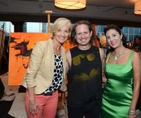 11 ARTcetera event at Houston City Club August 2013 Dana Tyson, Taft McWhorter, Deborah Elias