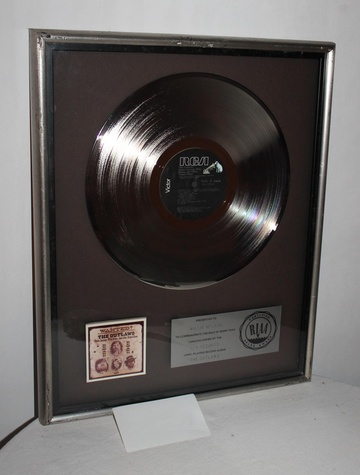 Willie Nelson's platinum record for Wanted! The Outlaws