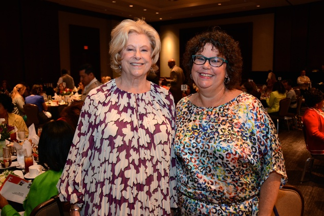 5622 Mary Jane Lindsey,  left, and Marjana Lindsey Roach at the Girls Inc. luncheon May 2014