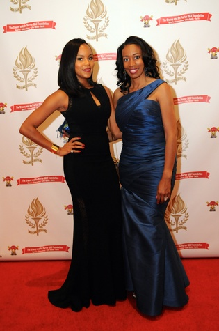 LaToya Luckett, left, and Stacey Porter at the Legacy Gala December 2014