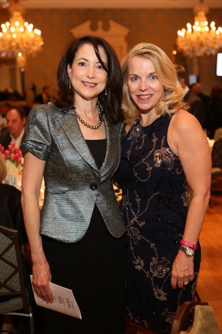 Lori Wulfe, left, and Joan Cohen at the TUTS Dream Out Loud Celebration March 2015