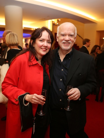 C.C. Garner and Scott Ensell at the Alley Theatre Opening Night Dinner January 2014