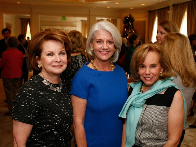11 Becky Scott, from left, Lynn Wilson and Lynn Swanson at the Houston Botanical Gardens luncheon December 2013