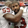 Arian Foster embrace