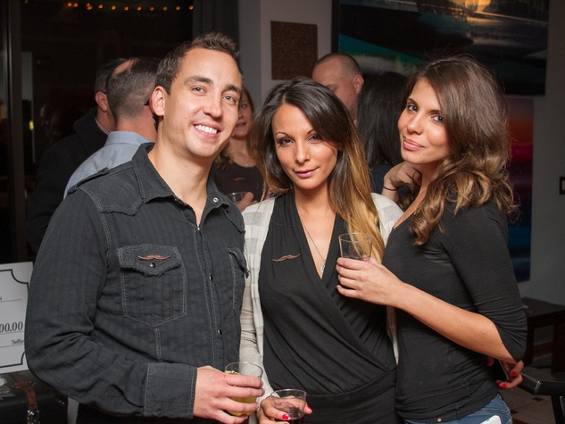 Woodford Reserve Movember Event at Kunst Gallery Shaun Harris Hannah Rodriguez Holly Rodriguez