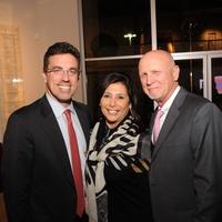 11 7229 Jamie Bennett, from left, Regina Garcia and Chuck Still at the reception for Jamie Bennett November 2014