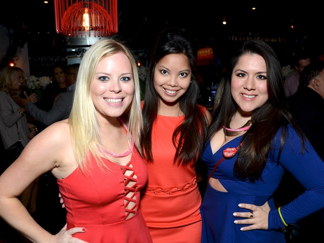 10 59 Maddie Drilling, from left, Leah Ryed and  Maura Canepa at the American Heart Association Bachelor Party February 2014